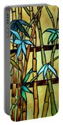 Stained Glass Tiffany Bamboo Panel Portable Battery Charger