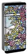 Stained Glass Tiffany Floral Skylight - Fenway Gate Portable Battery Charger
