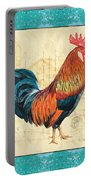 Tiffany Rooster 1 Portable Battery Charger by Debbie DeWitt