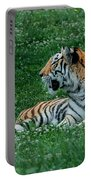 Tiger At Rest 1 Portable Battery Charger