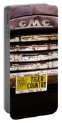 Tiger Country - Purple And Old Portable Battery Charger by Scott Pellegrin