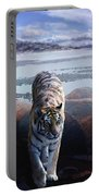Tiger In A Lake Portable Battery Charger