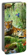 Tiger In The Jungle Portable Battery Charger