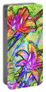 Tiger Lillies Portable Battery Charger