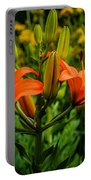 Tiger Lily Blossoms Portable Battery Charger