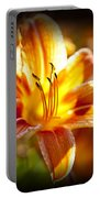 Tiger Lily Flower Portable Battery Charger