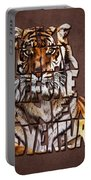 Tiger Majesty Typography Art Portable Battery Charger