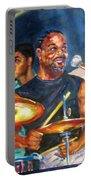 Tiger On Drums Portable Battery Charger