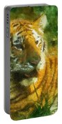 Tiger Resting Photo Art 02 Portable Battery Charger