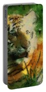 Tiger Resting Photo Art 03 Portable Battery Charger