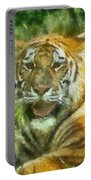 Tiger Resting Photo Art 05 Portable Battery Charger