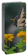 Tiger Swallowtail And Lantana Portable Battery Charger