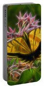 Tiger Swallowtail Digital Art Portable Battery Charger