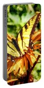 Tiger Swallowtail On Yellow Wildflower Portable Battery Charger