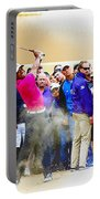 Tiger Woods - The Waste Management Phoenix Open At Tpc Scottsdal Portable Battery Charger