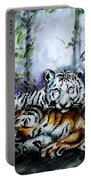 Tigers-mother And Child Portable Battery Charger