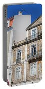 Tiled Building In Chiado District Of Lisbon Portable Battery Charger