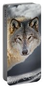 Timber Wolf Holiday Card 21 Portable Battery Charger