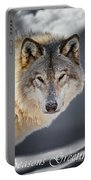 Timber Wolf Seasons Greeting Card 21 Portable Battery Charger
