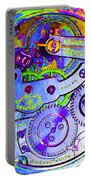 Time In Abstract 20130605m36 Square Portable Battery Charger