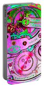 Time In Abstract 20130605p108 Square Portable Battery Charger