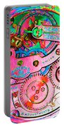 Time In Abstract 20130605p144 Square Portable Battery Charger