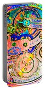 Time In Abstract 20130605p180 Square Portable Battery Charger
