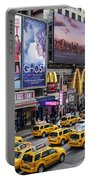 Time Square On A Week Day Portable Battery Charger