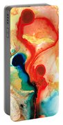 Time Will Tell - Abstract Art By Sharon Cummings Portable Battery Charger