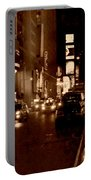 Times Square At Night - In Copper Portable Battery Charger