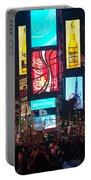 Times Square Crowds Portable Battery Charger