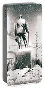 Times Square In The Snow - New York City Portable Battery Charger