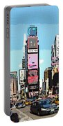 Times Square Nyc Cartoon-style Portable Battery Charger