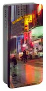 Times Square With Runaway Horse Portable Battery Charger