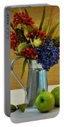 Tin Bouquet And Green Apples Portable Battery Charger
