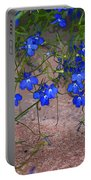 Tiny Blue Flowers Portable Battery Charger