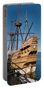 Tiny Mayflower At Plymouth Rock Portable Battery Charger