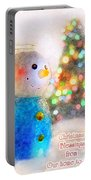 Tiny Snowman Christmas Card Portable Battery Charger