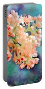 Tiny Spring Tree Blooms - Digital Color Change And Paint Portable Battery Charger