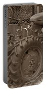 Tired Tractor...... Sepia Portable Battery Charger