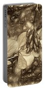 Tis The Season - Antique Sepia Portable Battery Charger