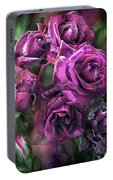 To Be Loved - Purple Rose Portable Battery Charger