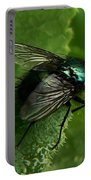 To Be The Fly On The Salad Greens Portable Battery Charger by Barbara St Jean