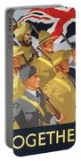Together Propaganda Poster Portable Battery Charger by Anonymous
