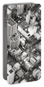 Tokyo City Black And White Portable Battery Charger