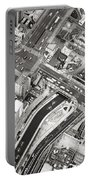 Tokyo Intersection Black And White Portable Battery Charger