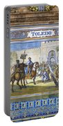 Toledo In The Province Alcove Of The Plaza De Espana Portable Battery Charger