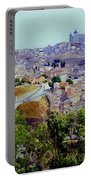 Toledo Spain In Blue Portable Battery Charger