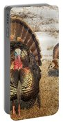 Tom Turkey And Hen Portable Battery Charger