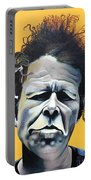 Tom Waits - He's Big In Japan Portable Battery Charger by Kelly Jade King